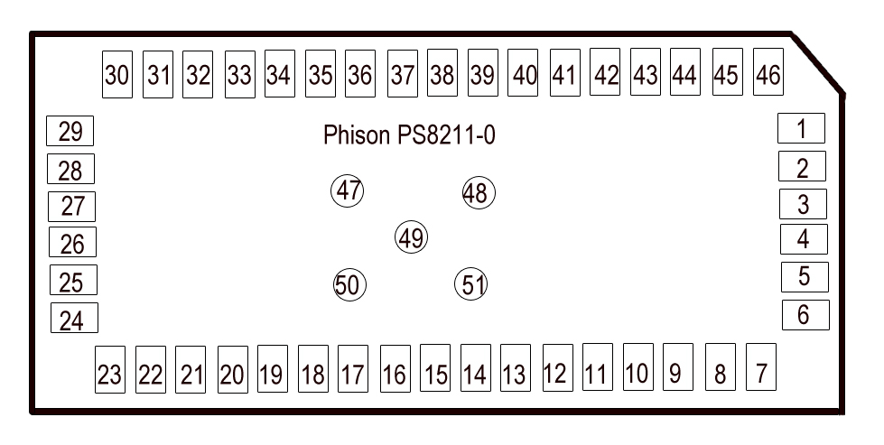 Phison PS8211-0 pinout